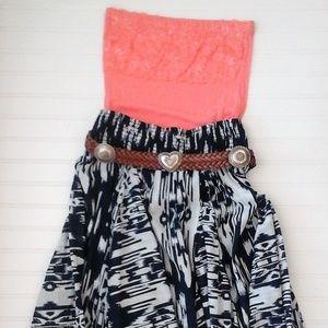 Long Flowy Tribal Maxi Skirt